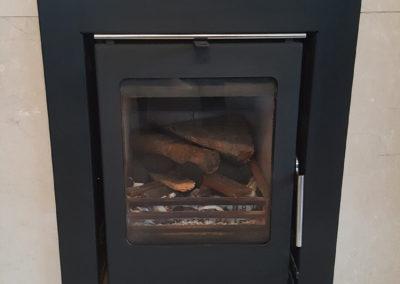 6kw Firewarm Matt Black Insert Stove by PJ Firman